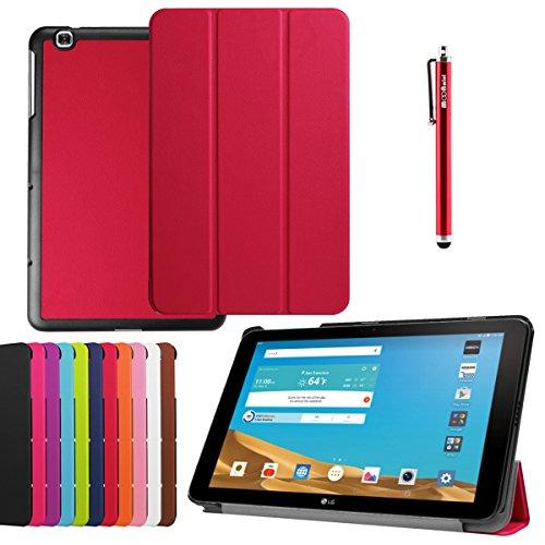 Forhouse Hülle LG G Pad II 10.1 V940, PU Ledertasche Flip Magnet Etui Mit Standfunktion Ultra Schlanke stoßfest Schutzhülle für LG G Pad II 10.1 V940 (Red)