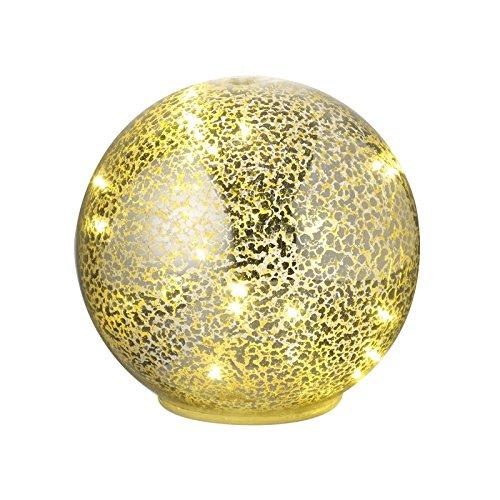 Dekorative Quecksilberglaskuppel mit integrierten LED-Lichtern, gold, Large