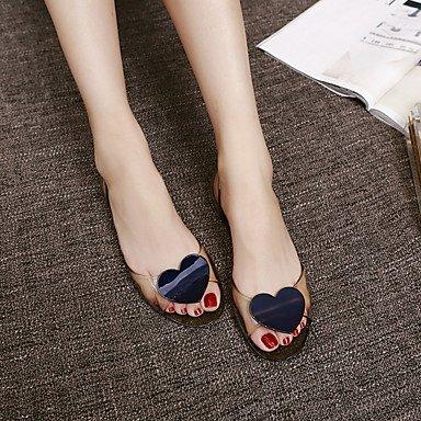 zhENfu Donna pantofole & flip-flops Comfort PU molla informale comfort verde chiaro Blu Verde Bianco Flat White