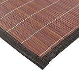 MonBeauTapis 165241 Bali Chic Tapis Bambou Chocolat 230 x 160 cm