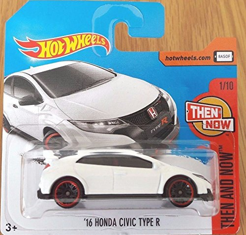 2017 Hot Wheels Then and Now '16 Honda Civic Type R White 327/365 (Short Card)