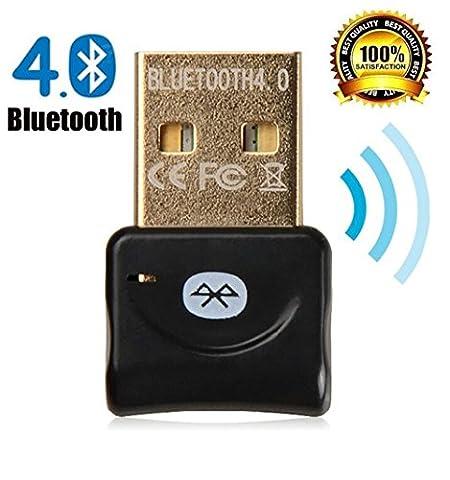 Zoweetek Bluetooth 4.0 USB Adapter Stick hohe Kompatible Windows XP/Vista/7/8/8.1 Version 4.0 Technologie | neuester Standard | Plug & Play | Windows 10 fähig Effektiven Radius von