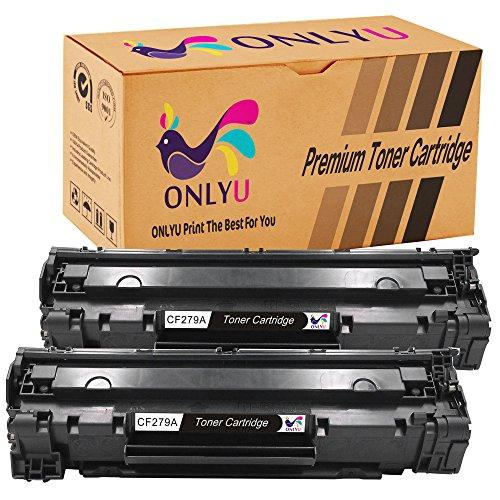 Onlyu 2-pack compatible hp cf279a 79a cartouche de toner pour hp laserjet pro m12 m12a m12w mfp m26a m26nw(2 nero)