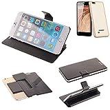 K-S-Trade Schutz Hülle für Blaupunkt SL 04 Schutzhülle Flip Cover Handy Wallet Case Slim Handyhülle bookstyle schwarz