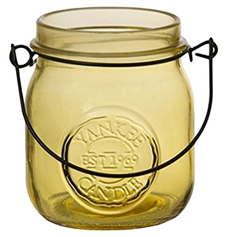 Yankee candle Jam Jar Tea Light Holder, Yellow