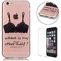 CaseHome gel di silicone iPhone 6 Plus/6S Plus 5.5'' Caso [con la protezione dello schermo (Tatuaggio Di Gomma)
