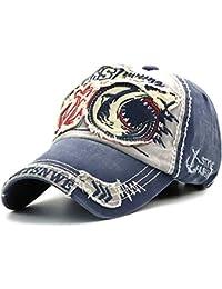 Tioamy Gorra de b¨¦isbol Unisex Ajustable Hat Retro Baseball Cap Cap  Algod¨®n Fashinable Ocio Carta Sombrero Exterior… d133533f143