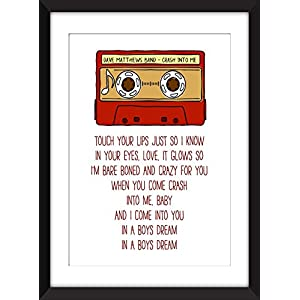 Dave Matthew Band Crash Into Me Lyrics - Unframed Print / Ungerahmter Druck