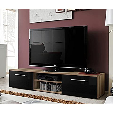 Lettiemobili –Mobile TV modello Rolano ciliegio e nero
