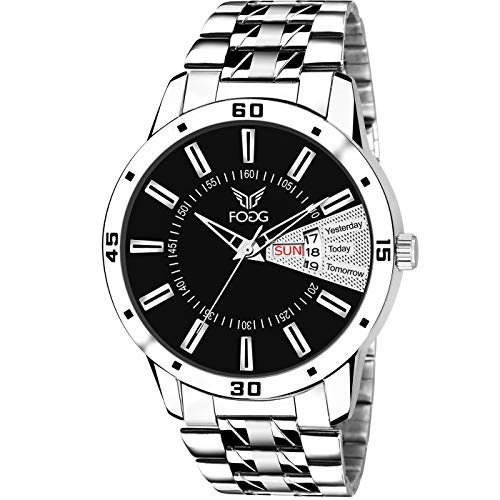 Fogg Analog Black Day and Date Men's Watch 2034-BK
