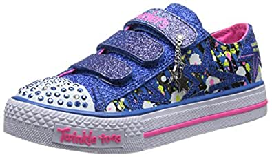 Skechers Shuffles Glitter N Glitz, Sneakers Basses fille, Bleu, 27 EU (UK child 9.5 Enfant UK)