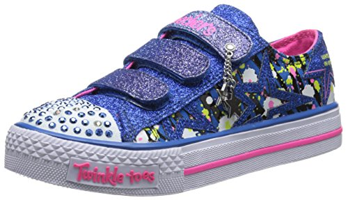 skechers-shuffles-glitter-n-glitz-girls-low-top-sneakers-blue-bleu-125-uk-child-31-eu