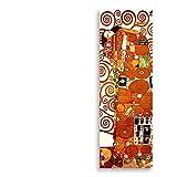 Classic Artista Gustav Klimt Abbraccio Bacio Stampa astratta Collezione Tela pittura poster di grandi dimensioni Immagini parete Living Room Home Decor ( Color : 4 , Size (Inch) : 50x150cm No Frame )