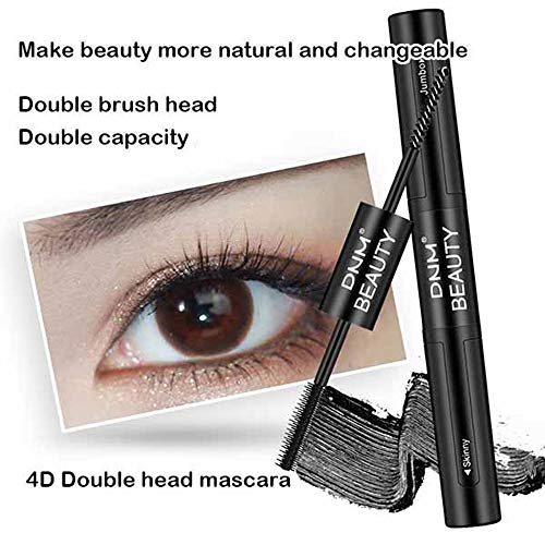 Mascara 4D Double Head Greffé Extension étanche Des Cils à L'eau Chaude Waterproof Eye Beauté Mascara Long Black