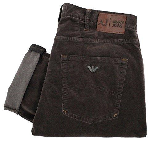Men's Armani Jeans Regular Fit Moleskin Jeans J45 Grn - Braun