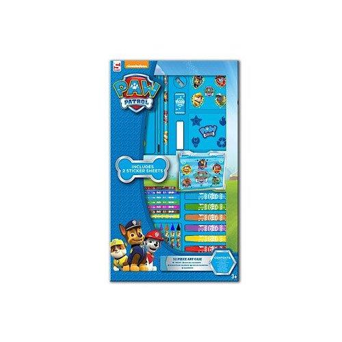 Sambro 52-teiliges Mal-Set für Kinder, offizielles Paw-Patrol-Produkt, zum Zeichnen, Ausmalen, mit Tragetasche
