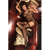 Livia Corsetti sexy lingerie X-Large/2X-Large Black Catriona Bodystocking Net Catsuit nightwear lingerie sets sexy sexy underwear