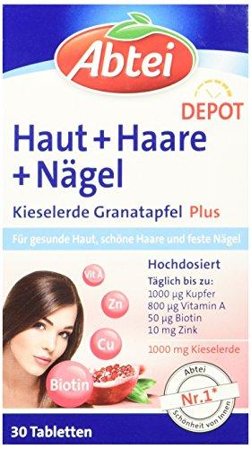 Abtei Kieselerde + Granatapfel Tabletten 30 Stück, 1 er Pack (1 x 42 g) (Nagel-schönheit Versorgt)
