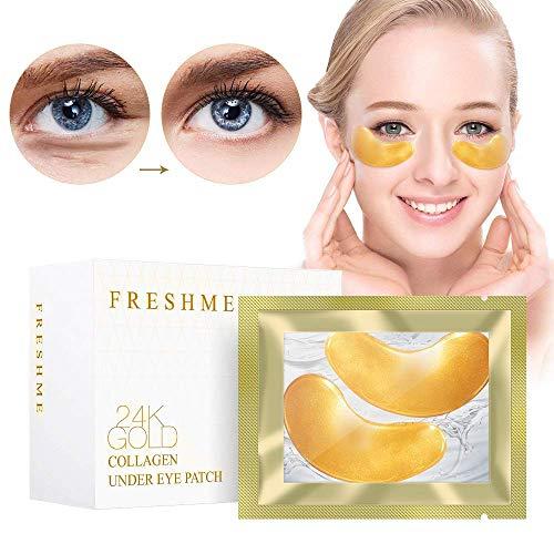 5 Paar Crystal Collagen Augenmaske - reduzieren Augenfältchen Taschen & Augenringe unter Auge, Anti-Aging & müde für Augenlid Feuchtigkeitspads Patch Crystal Gesicht