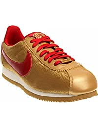 best sneakers b939a c4046 Nike Classic Cortez Yoth Women Sneakers Metallic Gold Sail Gym Red  631662-706