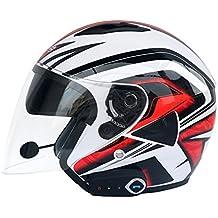 Casco Bluetooth para Motocicleta Lente Doble Casco Abierto Careta Descubierta Casco Facial Completo Calidad De Sonido