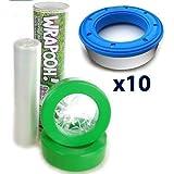 Wrapooh - Film para papelera de pañales Compatible con Angelcare Equivale a 10 cintas de recambio estándar 80% más barato Ahorre respetando el medio ambiente