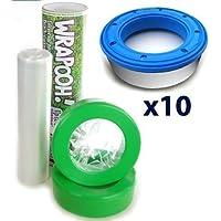 Envase y forro para pañal recargable compatible con Angelcare, de Wrapooh. Equivalente a 10 envases estándares aproximadamente. Sé amable con el medio ambiente