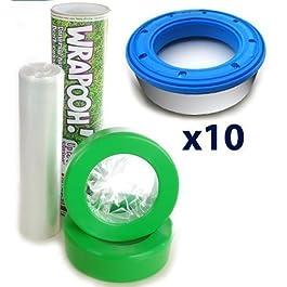 Angelcare Windeleimer kompatibel nachfüllbar Kassette & Liner aus Nachttopf. Entspricht ca. 10Standard-Kassetten und über 60% billiger. Sparen Sie Geld und werden SO die Umwelt.