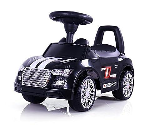 Das perfekte Rutschauto für Ihren kleinen Rennfahrer, kein langweiliges Einheitsdesign. Sportliche Optik, wie ein echter Sportwagen, Farbe:schwarz