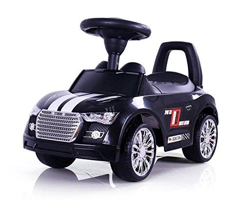 Porteur Auto en 5 couleurs: la voiture parfaite pour votre petit coureur automobile. Cette voiture a l'allure d'une vraie voiture de sport., Couleur:Noir