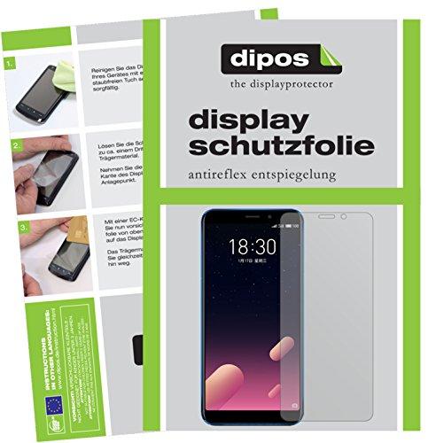 dipos I 6X Schutzfolie matt passend für Meizu M6S Folie Displayschutzfolie