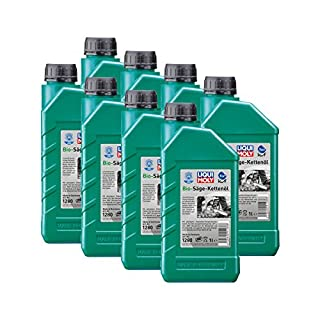 8x LIQUI MOLY 1280 Bio Säge-Kettenöl Pflanzliche Basis KWF geprüft 1L