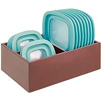 mDesign boite de rangement – panier de rangement pratique pour la cuisine avec 3 compartiments pour ranger les…