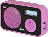 Imperial DABMAN 12 tragbares Digitalradio (DAB+/UKW, LCD Display, Akku, 3X AAA Batteriebetrieb) Rosa