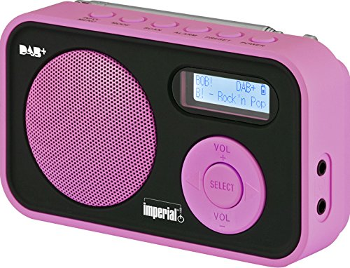 Imperial DABMAN 12 tragbares Digitalradio (DAB+/UKW, LCD Display, Akku, 3X AAA Batteriebetrieb) rosa -