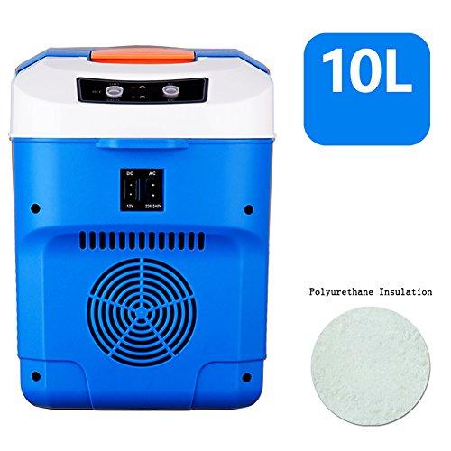FJW Réfrigérateur De Voiture Portable 10L Grande Capacité 220V Utilisation Familiale 12V Utilisation De La Voiture Refroidissement Rapide Congélateur Électrique Pour Voiture,Blue