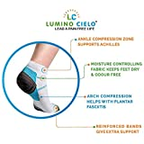 Lumino Cielo Low Cut Graduated Compression Sports Socks Prevents Plantar Fasciitis Heel Spurs