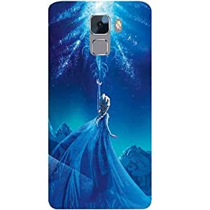 Casotec Frozen Palace Patterns & Ethnic Design Hard Back Case Cover for Huawei Honor 7