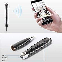 Bolígrafo espía inalámbrico oculta cámara HD Seguridad Covert DVR monitor WIFI grabador de vídeo cámara web con cable USB