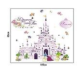 Wandtattoo Wandaufkleber Wandsticker Disney Burg Prinzessin Schloss 85 x 100 W132 Viwaro
