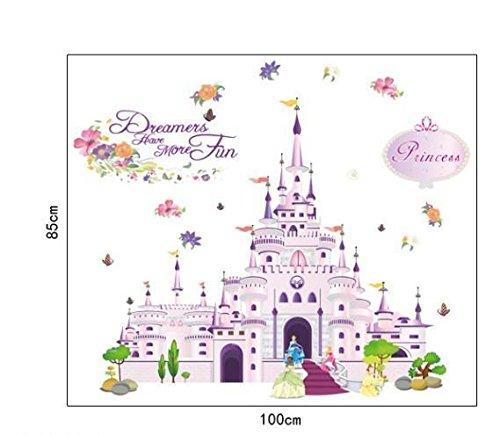 Wandtattoo Wandaufkleber Wandsticker Disney Burg Prinzessin Schloss 85 x 100 W132 Viwaro (Wandtattoo Prinzessin Schloss)