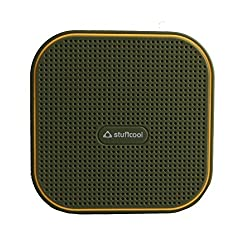 Stuffcool Monk Portable Bluetooth Speaker - Millitary Green / Yellow
