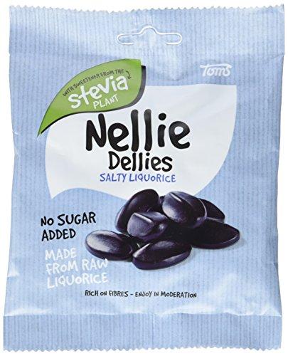 Nellie Dellies Salzlakritz STEVIA, 6er Pack (6 x 90 g)