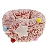 Mädchen Winter Schlauchschal Rundschal warm Loop Schal mit Stern Muster Weich O Ring Schals Halstuch(4-12 Jahre)
