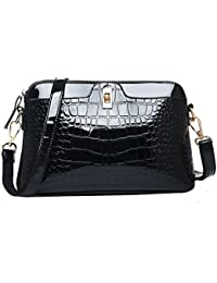 Patent Leather Shoulder Bag Alligator Pattern Cross-body Bag bf699ed58f9f0