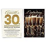Einladungen (20 Stück) Sekt Champagner Gläser Prosecco Einladungskarten