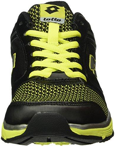 Lotto Everide III Amf, Chaussures de Running Entrainement Homme Noir (Blk/Grn Aca)