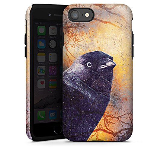 Apple iPhone X Silikon Hülle Case Schutzhülle Rabe Vogel Krähe Tough Case glänzend