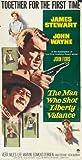 El hombre que mató a Liberty Valance Póster de película E 11 x 17 - 28 cm x 44 cm en James Stewart John Wayne Vera Miles Lee Marvin Edmond o ' Brien Andy Devine