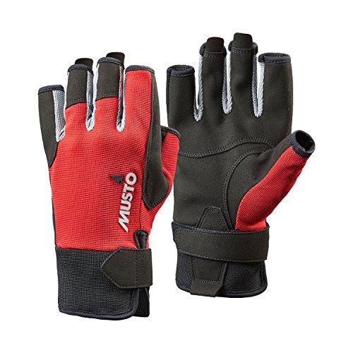 Musto Essential Sailing Short Finger Glove True Red-L